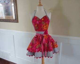 Girls Just Wanna Have Fun ~LAST ONE ~ Sadie Style Women's Apron ~ 4RetroSisters