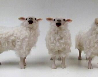 Doll House Scale Irish Galway Sheep Baaing
