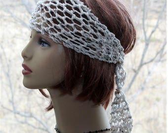 Crochet Headband Boho Headband Womens Headband Hair Accessories Womens Accessories Hippie Headband yoga, beach, dreads