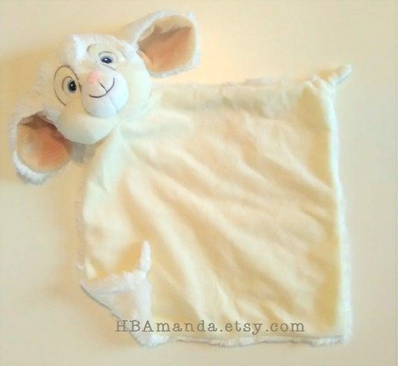 White Bunny Minky Blanket - Monogrammed Rabbit Blankie - Monogram Baby Gift - Security Blanket