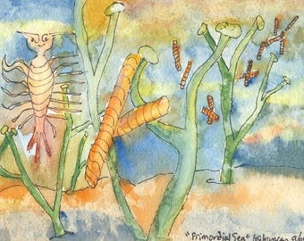 Primordial Sea Photo Print of watercolor
