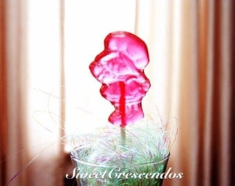 STRAWBERRY SHORTCAKE Lollipops- Hard Candy Favors-Adorable