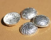 RESERVED For Jesus Only Sterling Silver 24g Domed Discs Leaves Textured for Finding Jewelry Metalworking Finding Blanks