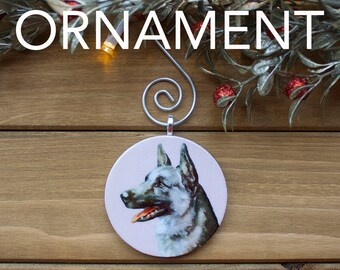 German Shepherd Ornament, Tree Decoration, Tree Ornament, Vintage Ornament, Dog Gift, Christmas Gift, Stocking Stuffer, Free Shipping