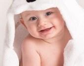PERSONALIZED Panda Hooded Towel