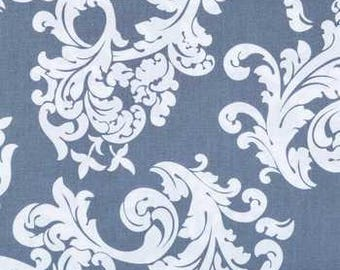 Brother and Sister Design Gray and White Elegrance Fabric- by the yard