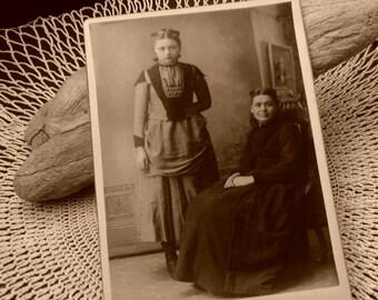 Two Victorian Women Cabinet Card, Early 1900's, Victorian Woman Portrait, Edwardian