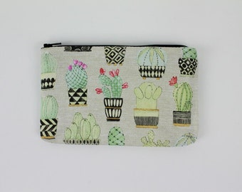 Cute Cacti and Succulent Novelty Wallet / Coin Purse With Zipper