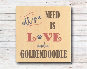Dog Wall Decor, Goldendoodle, Dog Breeds, Wood Signs, Rustic, Dog, All You Need Is Love, Dog Home Decor, Home Decor, Living Room