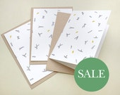 SALE | Set of 3 Season's Greeting Cards »fir branch with pine nuts« | Botanical Cards | Greeting Cards | STUDIO KARAMELO