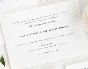 Classic Elegance Wedding Invitations - Sample
