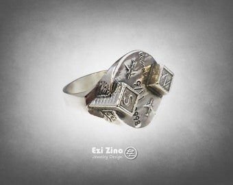 ezi zino : never forget  9/11 world trade CENTER COMMEMORATIVE Twin Towers ring sterling 925