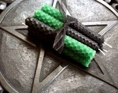 Green and Black Double Action Candles