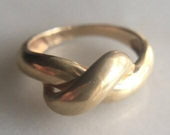 Vintage 10k Gold Knot Ring