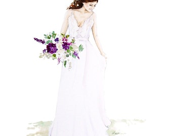 Custom Wedding or Bridal Portrait