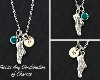 Track Gift Track Team Necklaces • Running Necklace Running Shoe Girls Track Coach Gifts • Winged Shoe Track and Field Runner