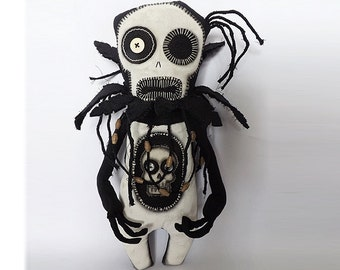 Voodoo Doll Macabre Horror Victorian Gothic Oddity Goth Doll Momento Mori
