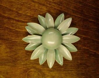 Vintage 1960's  Original By Robert Enamel Flower Brooch