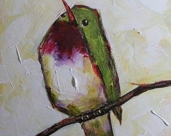 "Prints Art Print Giclee Bird Contemporary Art Home Decor Gift 8""x10"" Wall Art Abstract Painting"