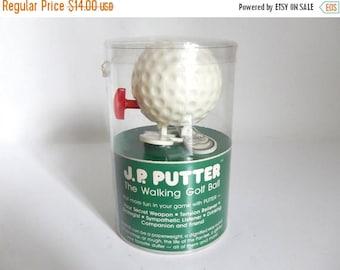 Vintage c. 1978 Unopened J.P. Putter Wind Up Walking Golf Ball