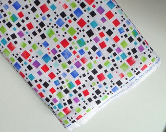 Anything Goes Quilting Fabric Multicolor Squares Dots on White By Ann Lauer Contempo Studio Benartex