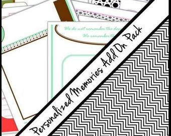 PERSONALIZED My Memories ADD ON pages to your JaDazzles Baby Memory book (5 sheets-10 pages)