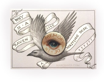 Lover's Eye Mourning brooch pin - offset enamel pin by Mab Graves