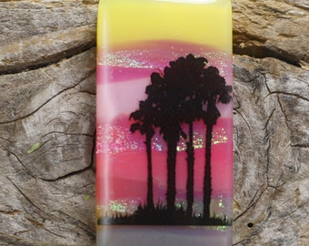 Dichroic Glass Pendant, Tree Grove DGP-513