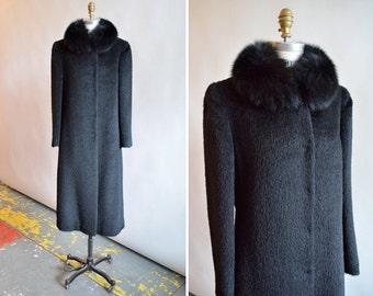 Vintage WOOL & FOX fur long coat