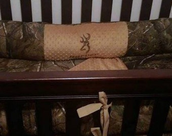 Fitted Real Tree Camo Crib Sheet