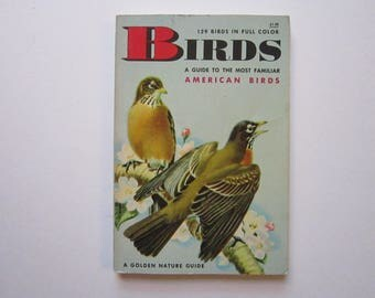 antique pocket sized AMERICAN BIRD book - a Golden Guide -  circa 1956 - as is