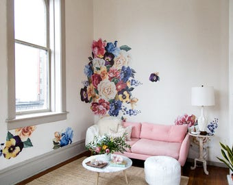 Reduced Order** Vinyl Wall Sticker Decals - Vintage Floral