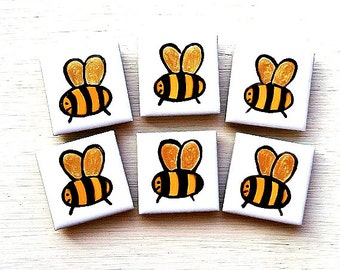 Bee Magnet, Fridge Magnet, Insect Magnet, Stationary Magnet