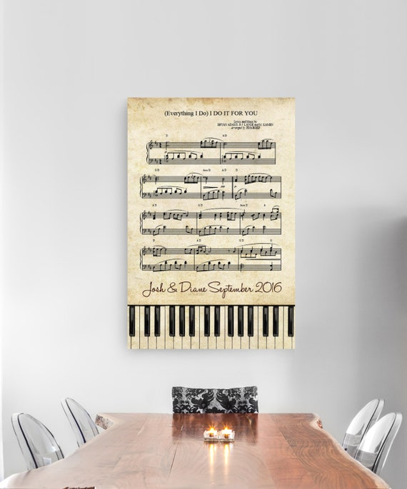 Dancing On My Own Sheet Music With Lyrics: Sheet Music Art Framed Music Lyrics Personalized First Dance