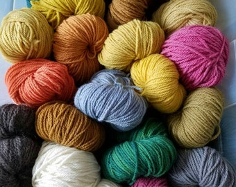 Biotayarns plant dyed yarn - Cormo wool plant dyed and natural colored - worsted weight - 200 yards - 4 oz.