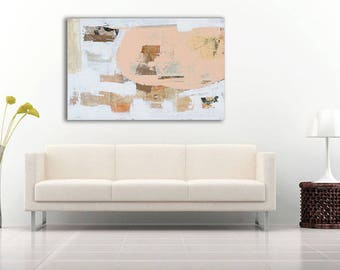 SALE...Mixed media large 24x36 canvas Painting by Erin Ashley