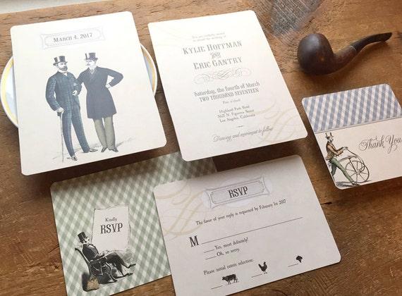 Alternative Wedding Invitations: Gay Wedding Invitation Alternative Wedding Vintage Wedding