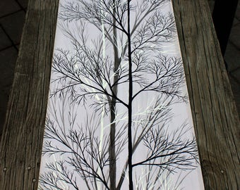 White, Gray and Black TABLE RUNNER
