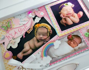 RAINBOW BABY Baby Keepsake Box with Engraved Name Plate