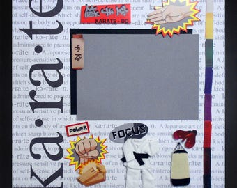 KARATE FOCUS Premade Memory Album Page (Gallery Wood Frame Sold Separately)