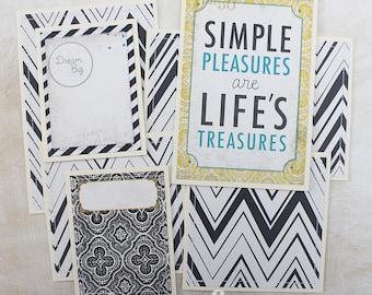 Treasures - Premade Scrapbook Page Sewn Photo Mat Set