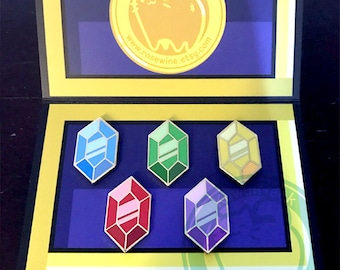 Set of 5 Rupees - Zelda Breath of the Wild Rupee Pins
