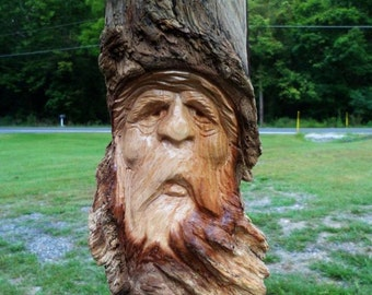 Hand Carved Wood Spirit (Orders Only)