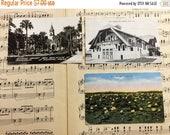 30% OFF SALE Vintage Assorted Postcards Set of 3 Wisconsin Florida Illinois Photographs Collector Ephemera Paper