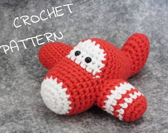 Crochet pattern toy airplane amigurumi tutorial English and Dutch pdf