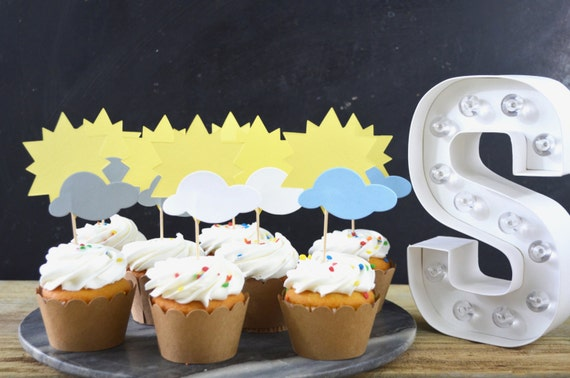 You Are My Sunshine Cupcake Toppers