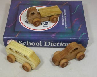 Child's Toy - Set of 3 Wooden Cars - Kids Toy - Car Set