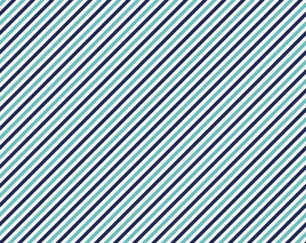 Pixie Stripe Navy - 1 yard - by Tasha Noel  for Riley Blake Designs.
