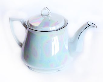 Leuchtenburg Opalescent Teapot - Vintage Lusterware Porcelain China - Made in Germany - Tea Party