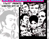 """2016 Icons Passed 11x17"""" inch poster print by Rainbow Alternative"""